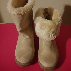 Cat & Jack Gold/Opal boots